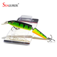 Sealurer Brand 1pcs Minnow Fishing Lures 10CM 9G Fish Minnow Lure Tackle Hard Bait Pesca Wobbler Artificial Swim bait(China)