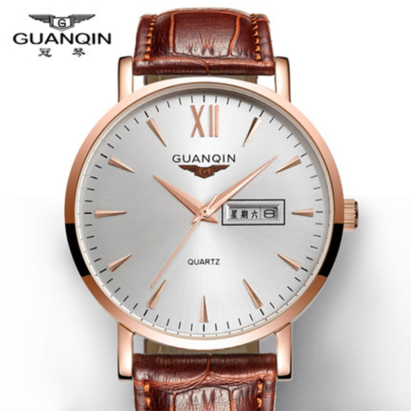 GUANQIN Luxury Men watches Business Top Brand Quartz-Watch  Mens Fashion Casual watches Male Wristwatch Men Watch<br>