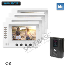 HOMSECUR 1C4M 7inch Hand-free Color Video Door Phone Intercom System+Intra-monitor Audio Intercom(China)