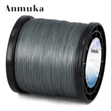 Anmuka 2000m 4 Strands Braid Line Green Gray Yellow PE Multifilament Saltwater Fishing Super Strong Carp Braided Fishing Line(China)