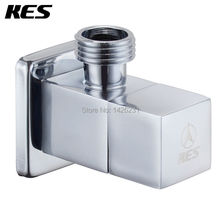 KES K112A1 Brass Quarter Turn Angle Valve G1/2 Inlet and Outlet Modern Square, Polished Chrome(China)