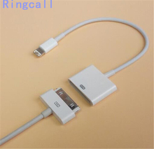 30 pin to lightning Adapter Cable For iPhone 4 4S to For iPhone 5 5S 6 6S Plus 7 iOS 8 9 10 lightning to 30 pin adapter Cable