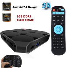 A95X R2 Android 7.1 Smart TV Box Support 4K 3D H.265 USB 3 RK3288 Quad-core 2G 16G Set Top Box Media Player with Remote control(China)