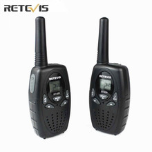 2X Mini Two Way Radio For Kids Walkie-Talkie Transceiver Retevis RT628 UHF PMR446 Radio LCD Display Portable Amateur Radios Toys