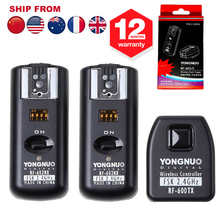Yongnuo RF602 RF-602 2.4GHz Wireless Remote Flash Trigger Studio Cord with 2 Receivers for Canon Camera 70D 60D 50D 300D 500D(Hong Kong)