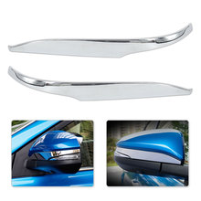 DWCX 2Pcs Car Styling Chrome Plated Side Rearview Door Mirror Strip Cover Trim Cap Molding for Toyota RAV4 2013 2014 2015 - 2017(China)