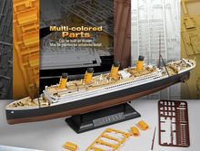 ACADEMY 14214 Multi Colored Parts 1/700 & 1/1000 Scale RMS Titanic Model Kit Ship Toy Assembled model Free Shipping(China)