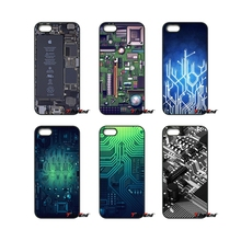 Phone Computer Circuit Board Print Phone Case Cover For iPhone 4 4S 5 5C SE 6 6S 7 Plus Samsung Galaxy Grand Core Prime Alpha(China)