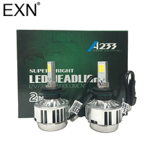 H7 COB LED Headlight Kit A233 LED Headlamp Bullb 66W 6000lm Auto Front Light H7 Fog Light Bulb Plug&Play LED Automotive Headlamp