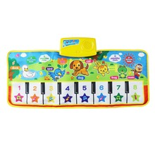 Baby Music Carpet Baby Musical Mat Children Educational Carpets Babe Infant Piano Music Play Mats Games Playmat for Kids 73x28cm(China)