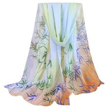 Imported China Beautiful cheap Fashion Lady Women Floral Prints Shawl Chiffon Scarf ponchos capes foulard soie beach sarongs