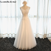 Bohemian wedding dress 2017 new sexy V-neck Tulle crystal A Line white silver pink champagne cheap wedding dresses made in china