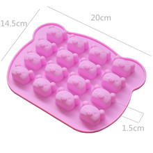 16 The Expression Of Koala Bear Silica Gel Handmade Soap Mold Silicone Cake Mold DIY Baking Tool Jelly MoldA980