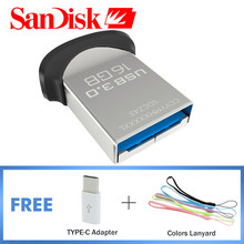 Original Sandisk USB 3.0 Flash Drive Up To 130m/s Mini Pendrive 64GB 32GB 16GB Pen Driver Pass Official Verification Pen Holder(China)