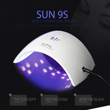SUN9s 24W Professional UV LED Lamp for Nails Arched Shaped Nail Lamp for UV Gel Polish Tools Machine Nail Art Dryer(China)