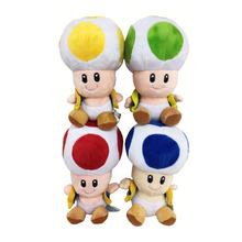 2017 Free Shipping 4 Colours 17CM Super Mario Mushrooms Toad Plush Toys Stuffed Animals Kids Gift Dolls 7""