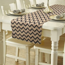 30x300cm Burlap Striped Hessian Table Runner Party Decor New Fashion for Wedding Hotel Table  Home Textile