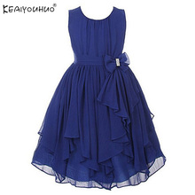 Girls Christmas Dress Sleeveless Princess Party Dresses For Girls Clorhes Chiffon Wedding Dress Baby Birthday Dress Kids Clothes
