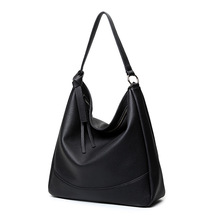 Soft Leather Handbags Big Women Bag Zipper Ladies Shoulder Bag Girl Hobos Bags