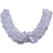 Practical Lace Collar -  White Cotton Faux Pearl Lace Collar Sewing Applications