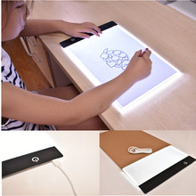 Dropshipping Ultrathin A4 LED Portable Drawing Board Animation Copy Tracing Pad USB Powered LED light box drawing Tablet Kid Toy(China)
