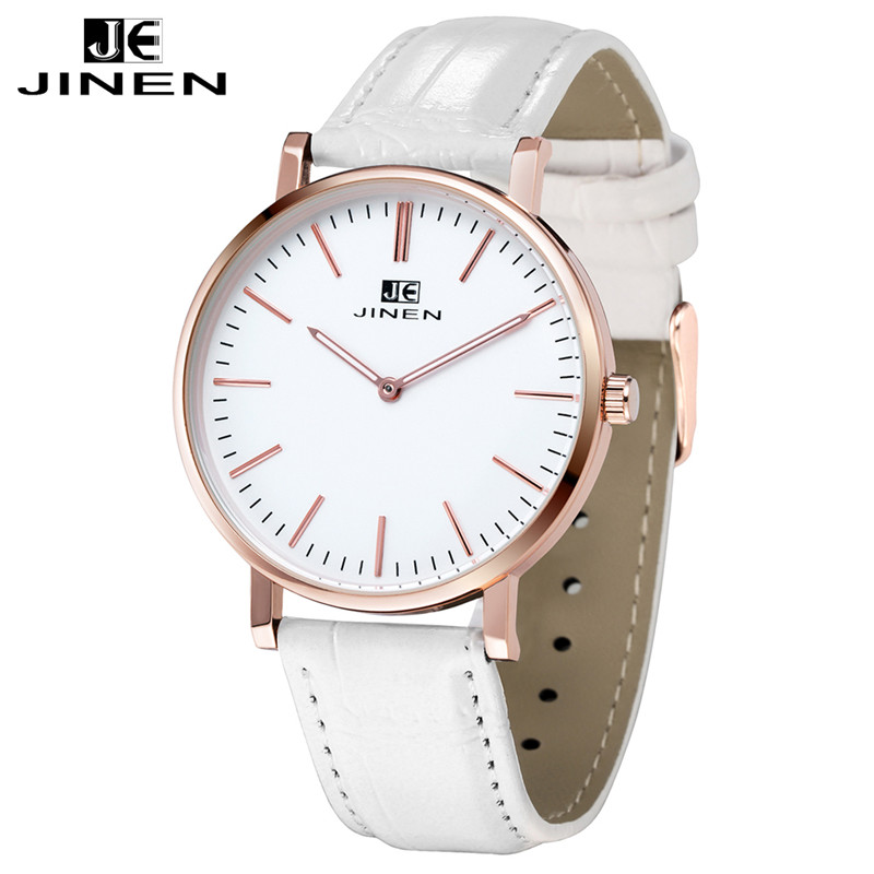 JINEN Men Luxury Brand Leather Strap Casual Fashion Chronograph Luminous Business Sport Quartz<br>
