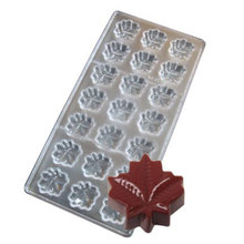 21 Cavities Maple Leaf Polycarbonate  mold chocolate Hard Injection PC Chocolate mould