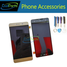 High Quality Black gold color For Highscreen Power Rage LCD Display+Touch Screen Digitizer Replacement with Tools 1pc/Lot