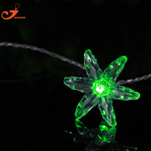 petunia string lights trumpet flower fairy holiday led color light spring home garden light battery powered party 3V AA indoor(China)