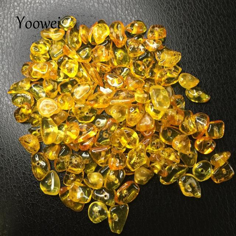 chips amber beads (6)