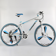 26 inch aluminum alloy mountain bike 21 and 24-speed folding mountain bicycle double disc brakes mountain bike
