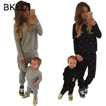 BKLD Tracksuit 2 Piece Set Suit New Winter Pullover Nail Bead Causal Sweatsuit Sweatpants Hoodie Coat+Pants Suits Plus Velvet(China)