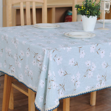 Japanese Style Orchid Plain Linen Tablecloths Home Wedding Party Table Cloth Dinner Coffee Tables Covers