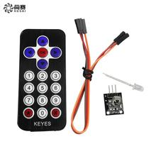 Smart Electronics 10Pcs/lot Hot Sale Black Infrared IR Wireless Remote Control Module Kits for arduino DIY Starter Kit