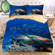 Sea turtle 3D Bedding Set  Print  Duvet cover set Twin queen king Beautiful pattern Real effect lifelike bedclothes
