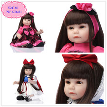 New Fashion 52cm 20inch Lifelike Reborn Baby Girl Doll With Unique Design Baby Doll Clothes Best Price Reborn Toddler Dolls Toy(China)