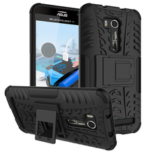 For Asus Zenfone Go 5.5inch ZB551KL Case Armor Heavy Duty Hard Cover ,for Asus ZB551KL Tire Style 2 in 1 Stand Case Drop ship