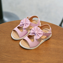 2017 Summer kids shoes girls shoes hollow beach shoes bowknot girls dress  shoes children