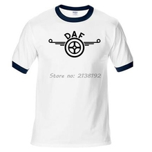 DAF Truck Classic Logo Man T-Shirt Raglan T Shirt Men Hip Hop Mens O Neck Homme Casual Tee 2017 new(China)