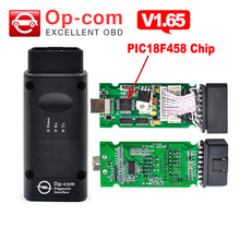 V1.65 firmware OP COM with PIC18F458 chip OPCOM obd 2 for opel can bus OBD II auto scanner OBDII OBD2 car diagnostic-tool op-com