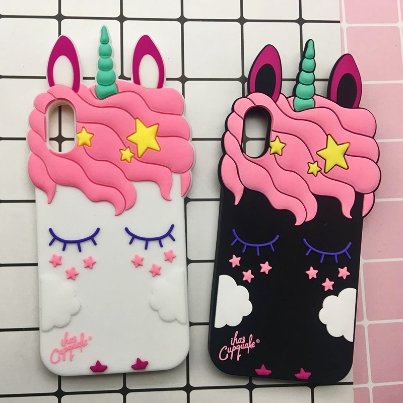 3D Cute Cat Unicorn Dog Rubber Case For iPhone 7 6 6S Plus 5s SE Soft Silicone Cartoon Cover Back For iPhone 8 7 6S 5S X Capa (30)