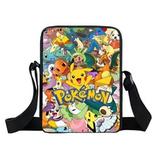 Anime Pokemon Pikacun Mini Messenger Bag Kyogre Pidgeotto Girls Boys School Bags Kids Book Bag Shoulder Bags For Snacks