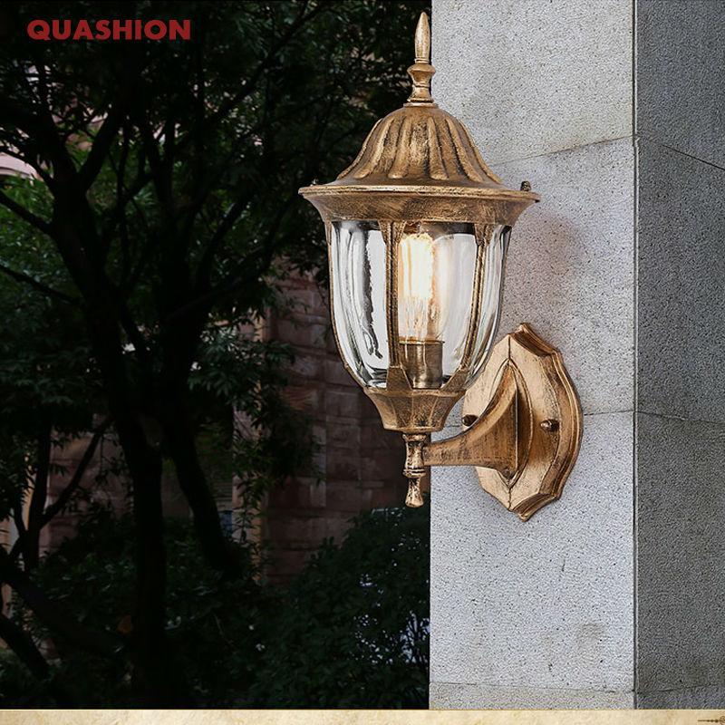 American Edison Retro Wall lamp Outdoor Wall Sconce Lighting Simple Waterproof Garden Wall Light Glass Porch Lights Lampara<br><br>Aliexpress