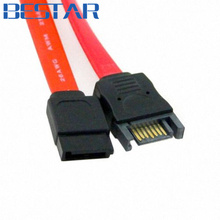 50cm SATA 2 7pin Male to Female M/F SATA II hard disk data Extension Cable red