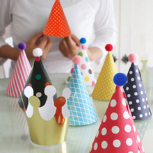 2017 Hot Sale 11pcs Celebration Cute Party Hats Birthday Hat Festive Party Photograph Items Birthday Party Decorations Kids