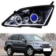HID Headlight For Honda CR-V 2007-2011 White Angel Eyes Blue Demon HALO Light(China)