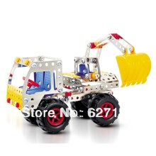 DIY Alloy Metal 3D Assembling Excavator Truck Model Toys Educational toys Project Cars Model 238 pcs Parts(China)