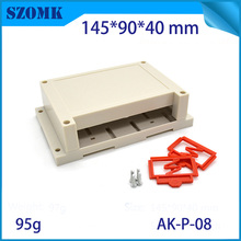 10 pieces, 145*90*40mm diy electronic shell case abs control enclosure plastic housing project enclosure din rail box(China)