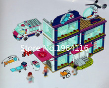 New 01039 Friends Series the Heartlake Hospital Building Blocks compatible 41318 Classic Architecture house toys for children(China)