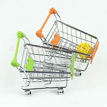 Hot Selling Elegant Mini Shopping Handcart Small Supermarket Practical Pushcart Trolley Phone Holder Kids Toys